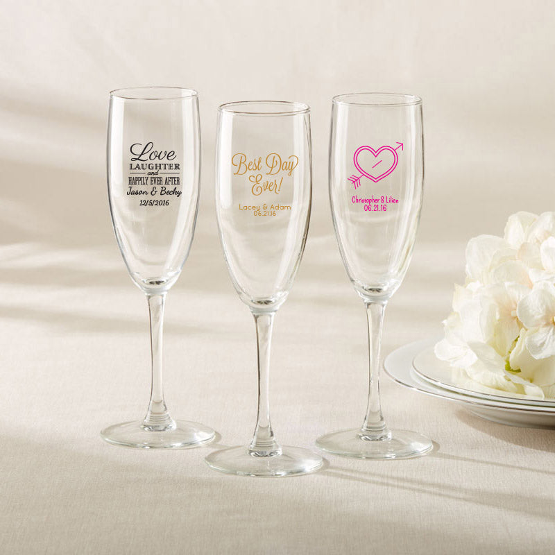 Champagne Flutes | Summer Bridal Shower Treats | My Wedding Favors
