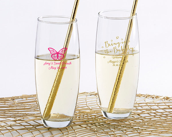 Stemless Champagne Glasses | Everything You Need for a Champagne Brunch Bridal Shower | My Wedding Favors