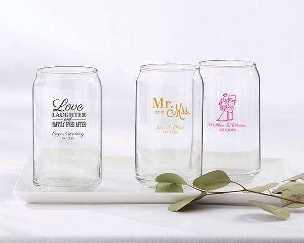 Glassware Wedding Favors: Beer Can Glasses