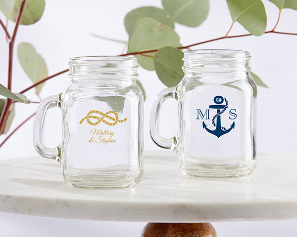 Nautical Wedding Favors: Mason Jar Shot Glasses