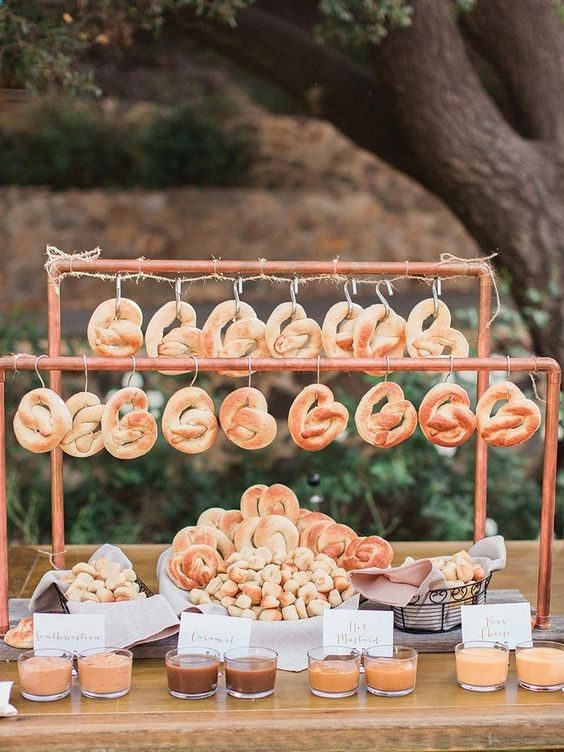 Pretzel Bar | 7 Trendy Wedding Appetizers | My Wedding Favors