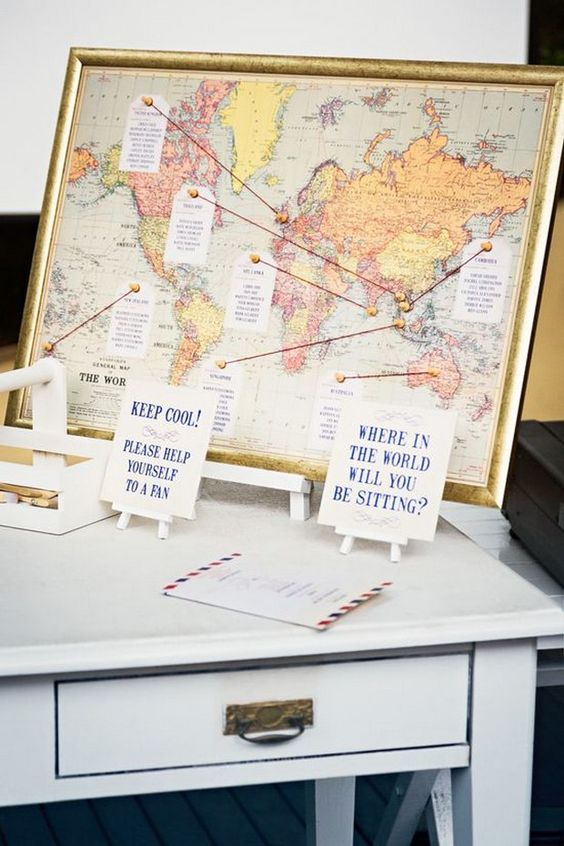 World Map Seating Chart | 5 Creative Seating Arrangement Ideas | My Wedding Favors