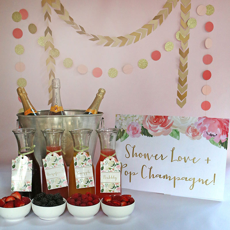 Mimosa Bar | Summer Bridal Shower Treats | My Wedding Favors