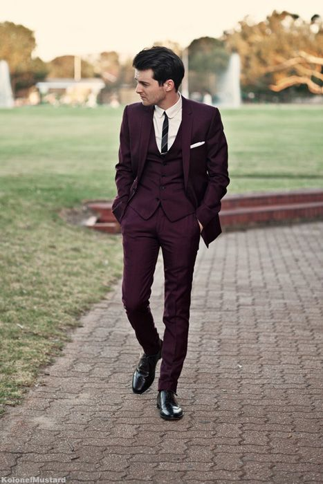 Marsala Men's Fashion: Marsala Groom