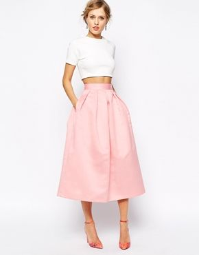 Crop Top Bridesmaid Dresses: White and Pink