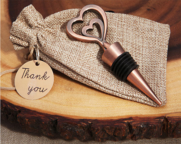 Wine Wedding Favors: Copper Bottle Stopper