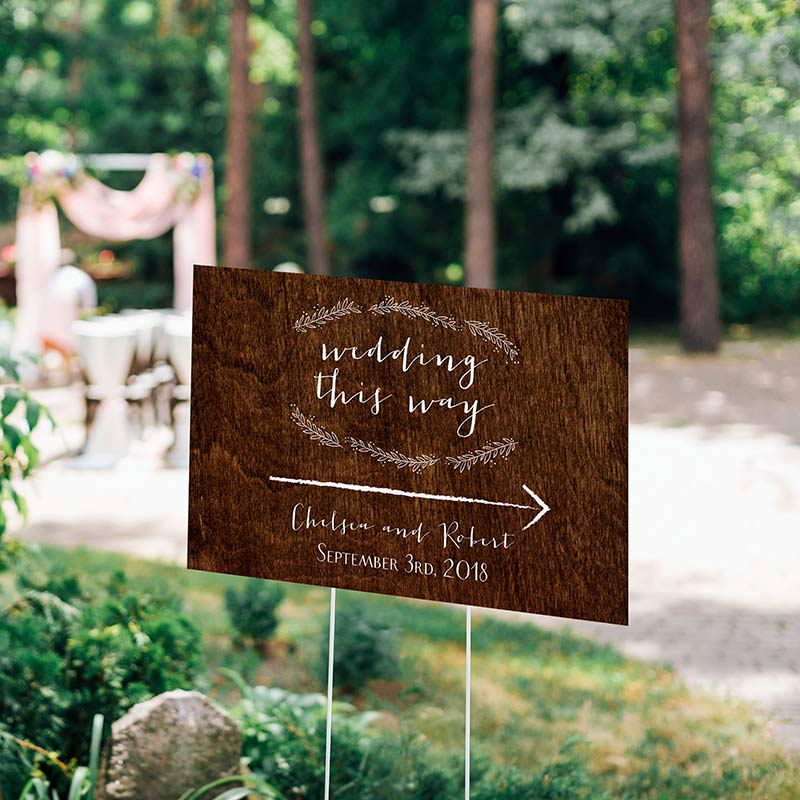 Personalized Directional Rustic Sign