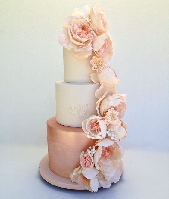 Rose Gold Wedding: Wedding Cake