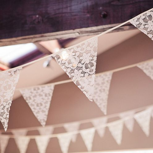 Lace Bunting | Incorporating Lace Into Your Wedding | My Wedding Favors