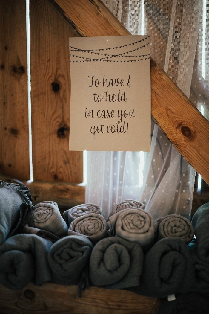 Winter Farmhouse Wedding: Blankets