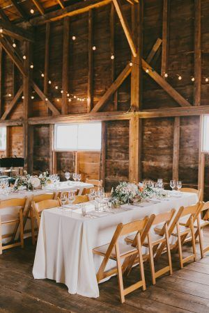 Winter Farmhouse Wedding: Natural Wood