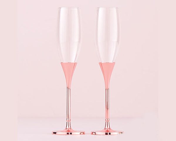 Rose Gold Wedding: Toasting Flutes