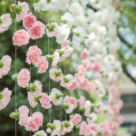 Incorporating Pink Into Your Wedding: Floral Curtain