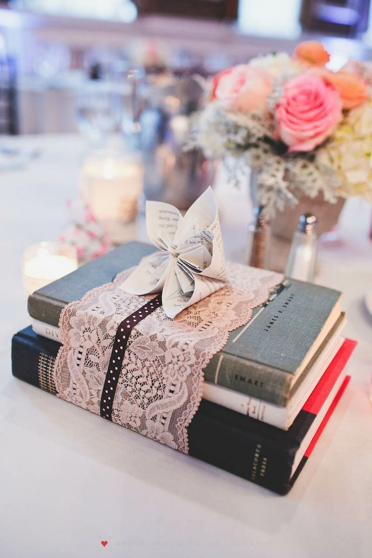 Book Themed Bridal Shower: Book Place Setting | Rachel McCauley Photography