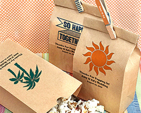 Tropical Wedding Favors: Favor Bags