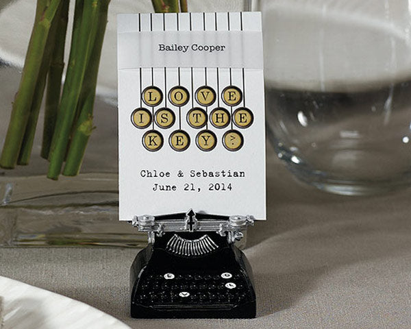 Typewriter Place Card Holders | 6 Favors for a Vintage Bridal Shower | My Wedding Favors