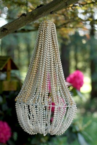 Pearl Wedding Decor: Pearl Chandelier