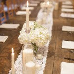 Incorporating Lace Into Your Wedding: Table Runner