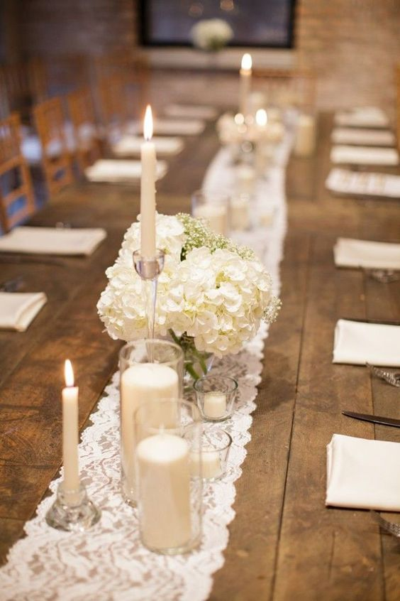 Lace Table Runners | Incorporating Lace Into Your Wedding | My Wedding Favors