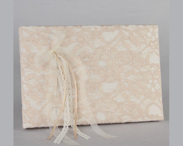 Wedding Guest Books: Lacy Vintage