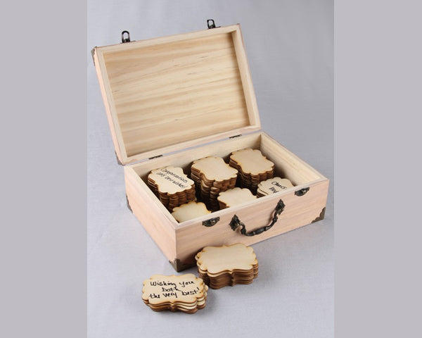 Wedding Guest Books: Wooden Tags