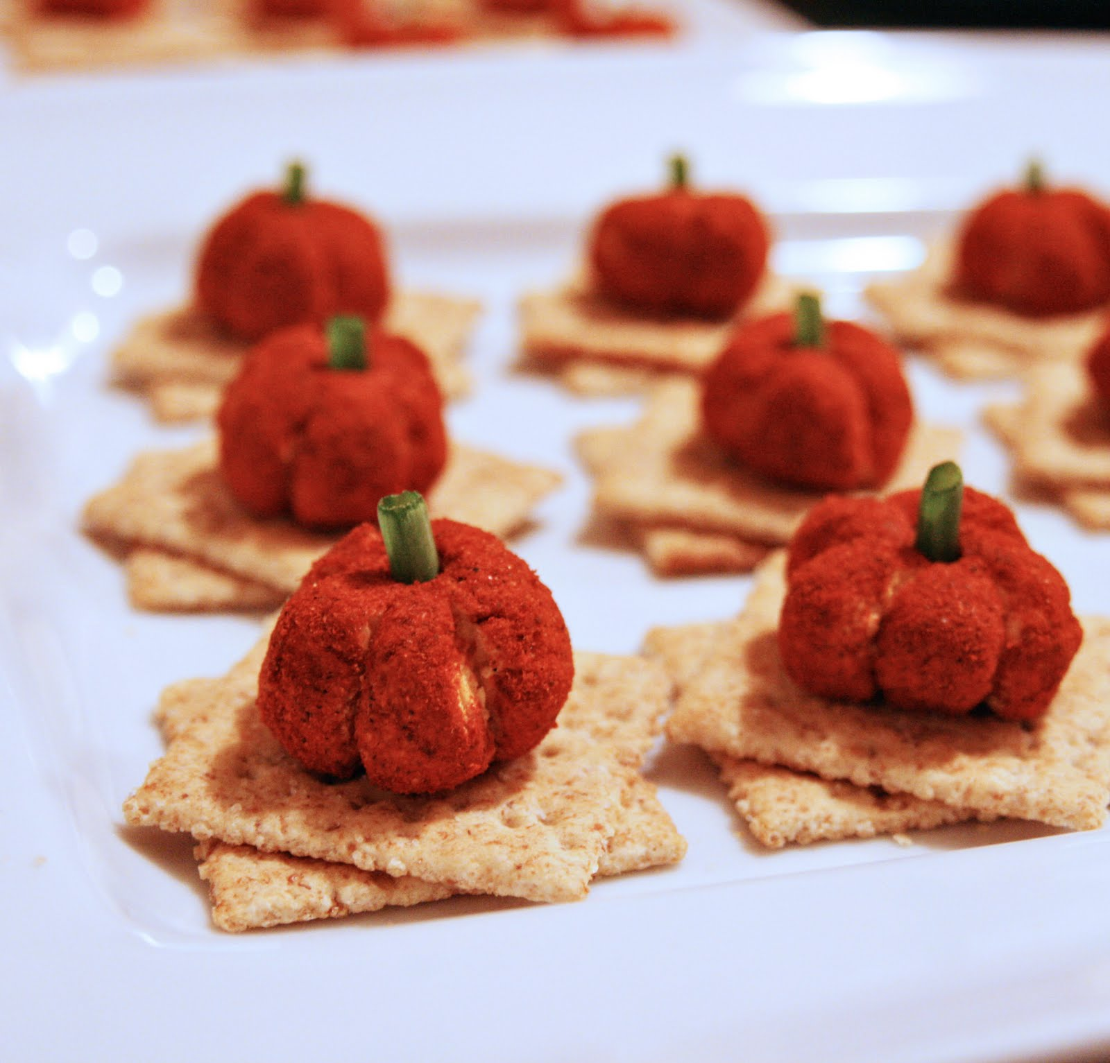 Pumpkin Cheese Balls | Spooky Food For a Halloween Party | My Wedding Favors