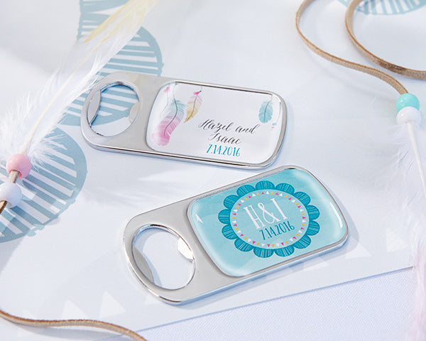 Boho Wedding Bottle Opener | @myweddingfavors | MyWeddingFavors.com