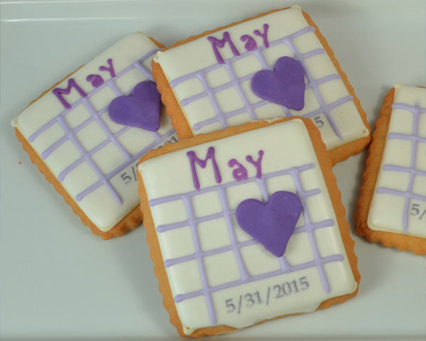 Save the Date Cookies | 8 Dessert Ideas for Your Engagement Party | My Wedding Favors
