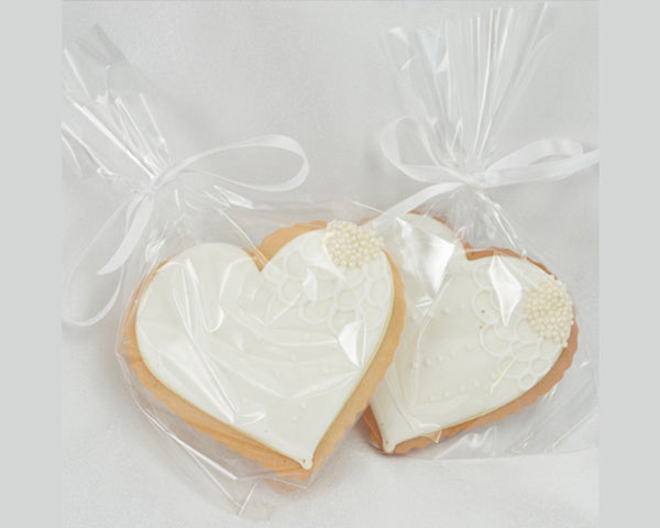 Classic White Heart Cookies | 7 Delicious and Adorable Wedding Cookies | My Wedding Favors