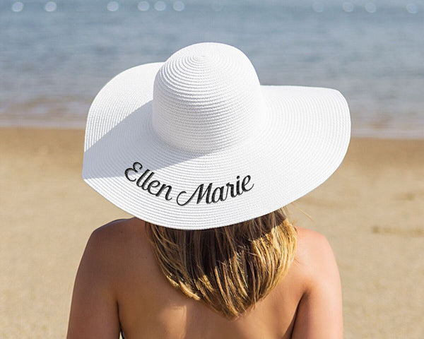 Personalized Sun Hat | Memorable Bridesmaids Gifts | My Wedding Favors