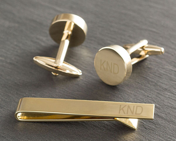 Cuff Links and Tie Clip | Stocking Stuffers for a Couple's First Christmas | My Wedding Favors