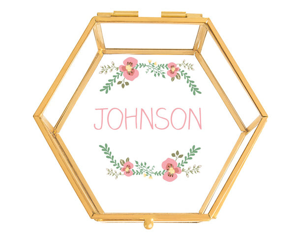 Floral and Gold Keepsake Box | Memorable Bridesmaids Gifts | My Wedding Favors