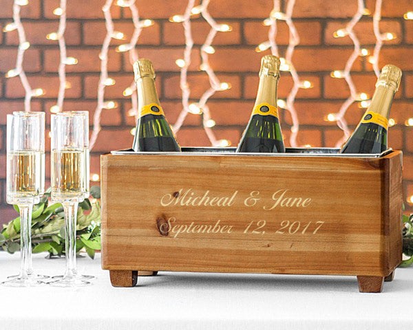 Wooden Wine Trough | 6 Thoughtful Anniversary Gifts for Your Spouse | My Wedding Favors