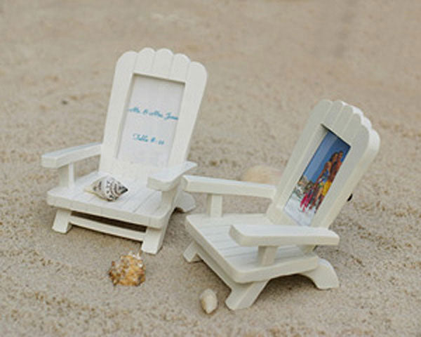 Beach Chairs | 8 Unique Wedding Reception Place Card Holders | My Wedding Favors