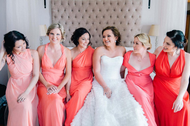 Bridesmaid Dresses: Range of Coral