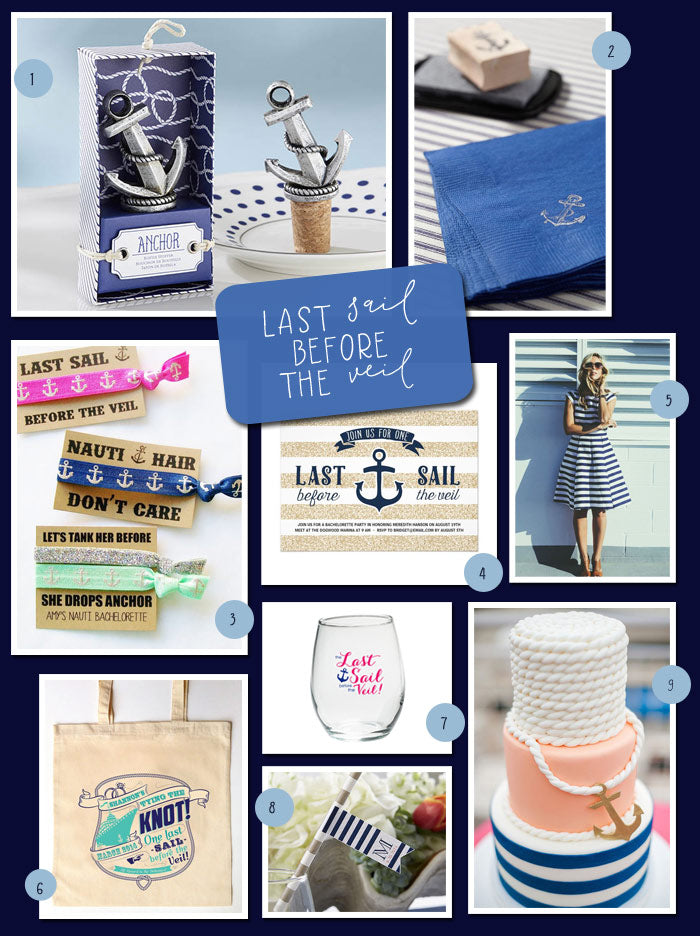 Last Sail Before the Veil Bachelorette Party | My Wedding Favors
