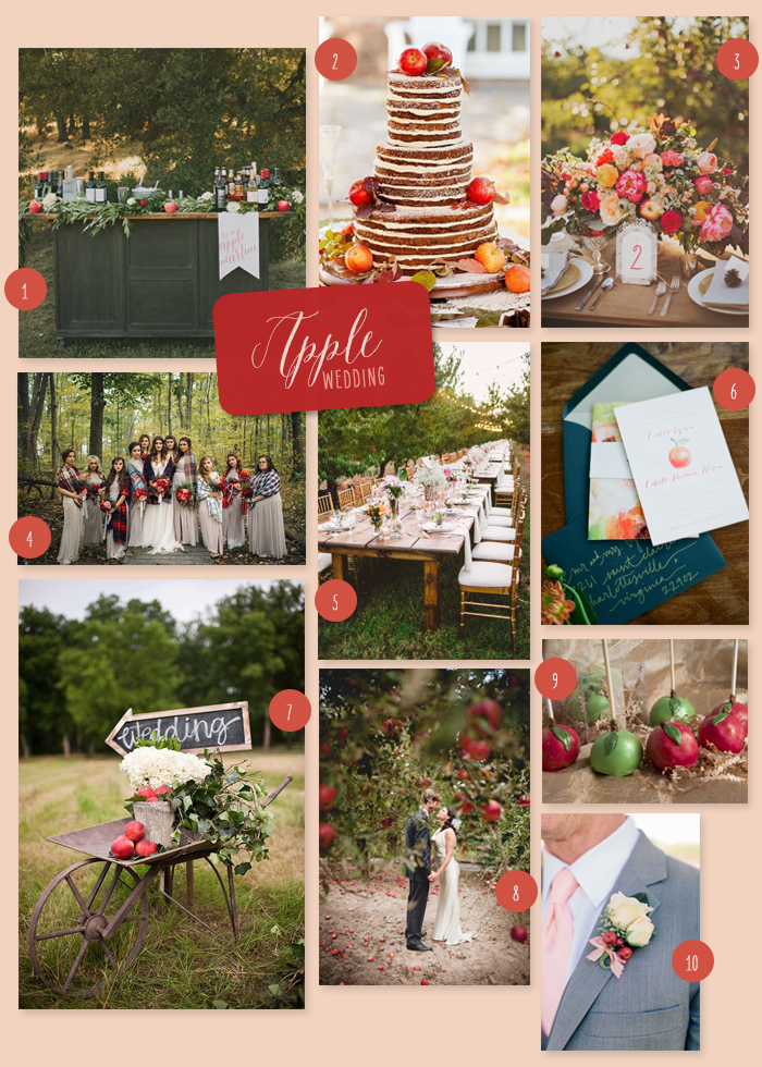 Apple Inspired Fall Wedding | An Apple Inspired Fall Wedding | My Wedding Favors