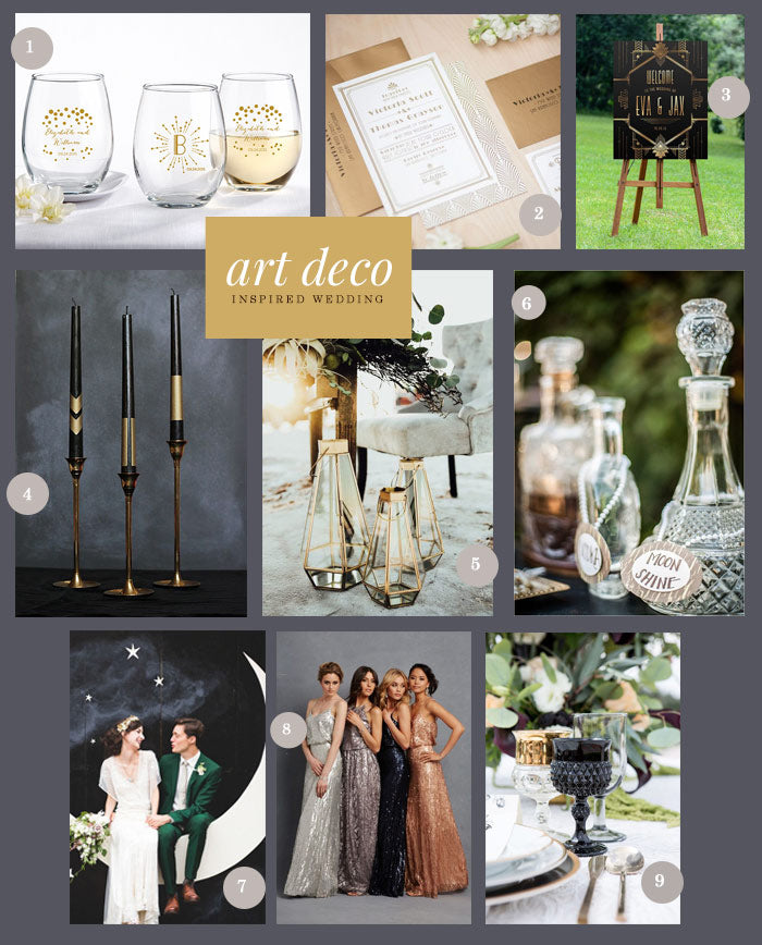 Art Deco Inspired Wedding | 9 Ideas for an Art Deco Inspired Wedding | My Wedding Favors