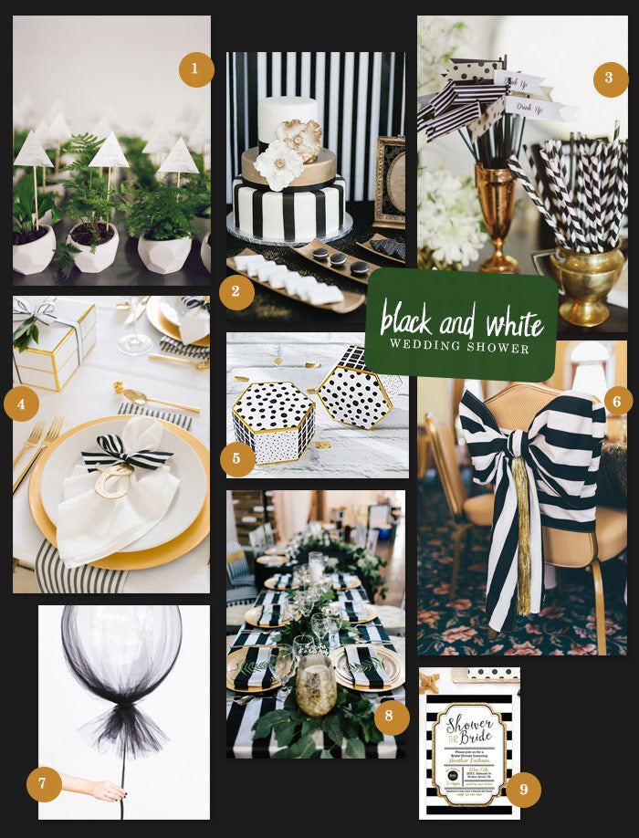 Black and White Wedding Shower | How to Throw a Black and White Bridal Shower | My Wedding Favors