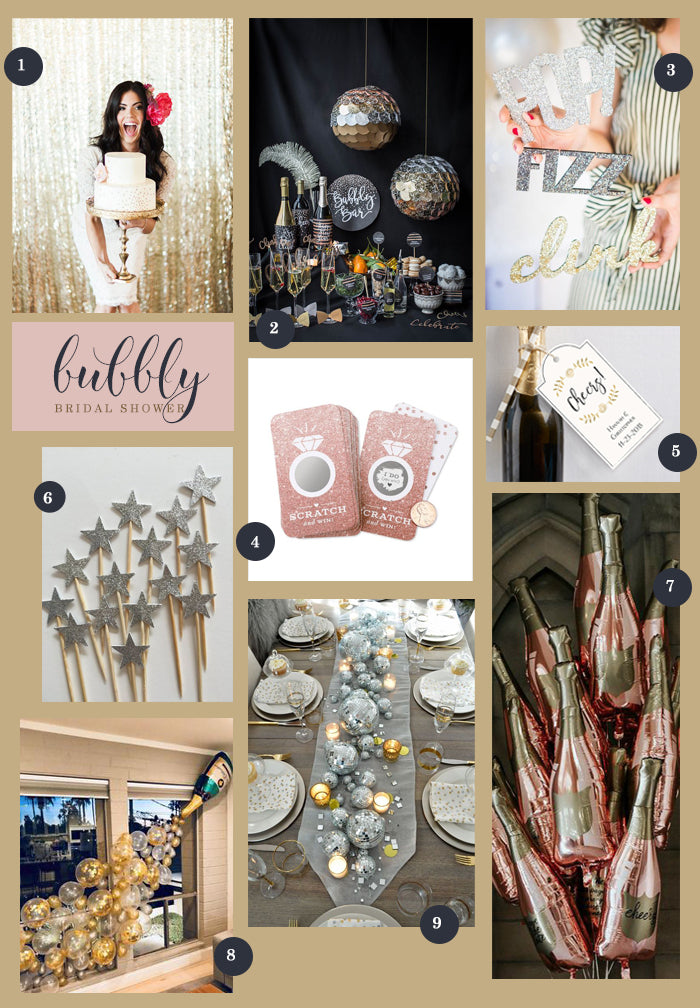 New Year's Eve Bridal Shower Ideas | A Bubbly New Year's Eve Bridal Shower | My Wedding Favors