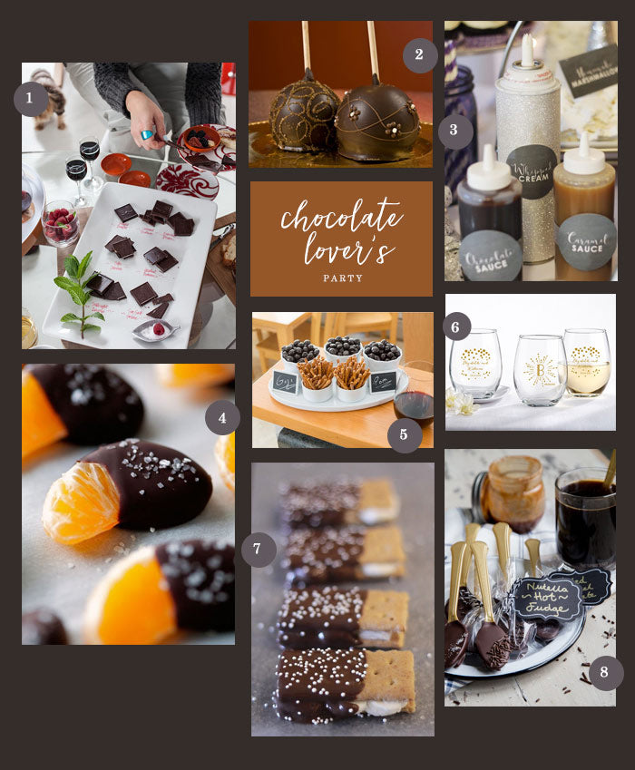 Chocolate Lover's Collage | A Chocolate Lover's Guide to Entertaining | My Wedding Favors