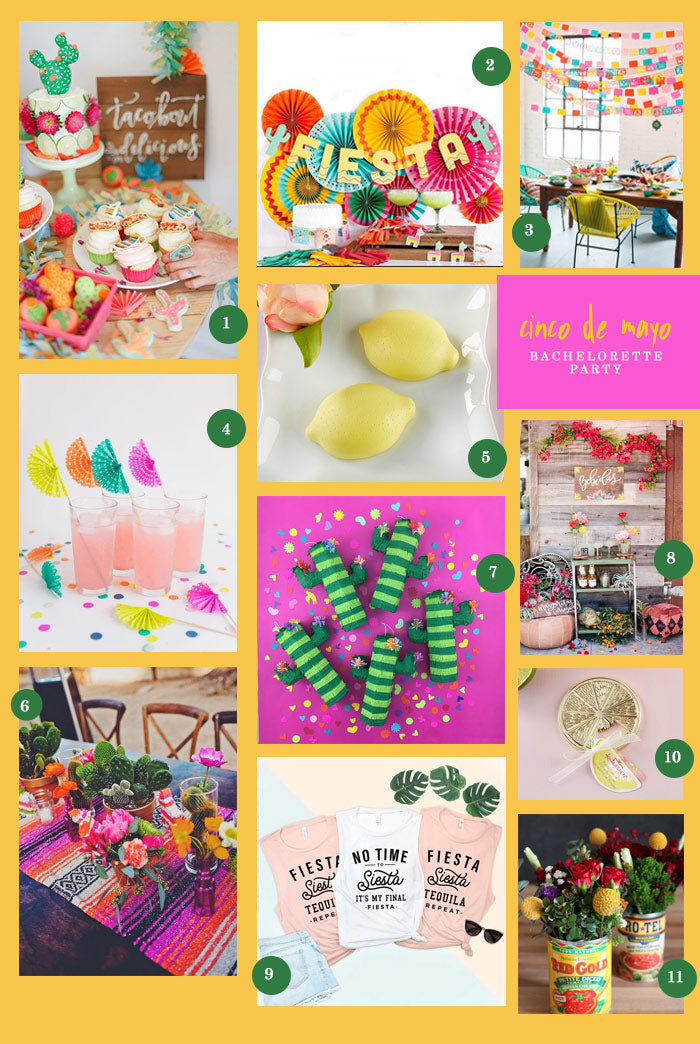 Cinco De Mayo Bachelorette Party | 11 Ideas for a Cinco de Mayo Bachelorette Party | My Wedding Favors