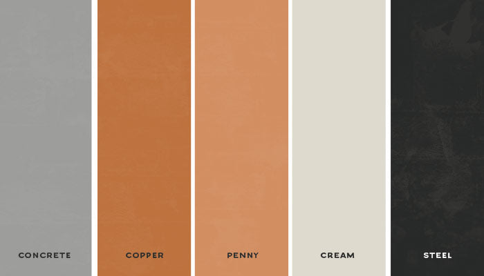 Copper and Concrete Industrial Wedding Color Palette | @MyWeddingFavors | MyWeddingFavors.com
