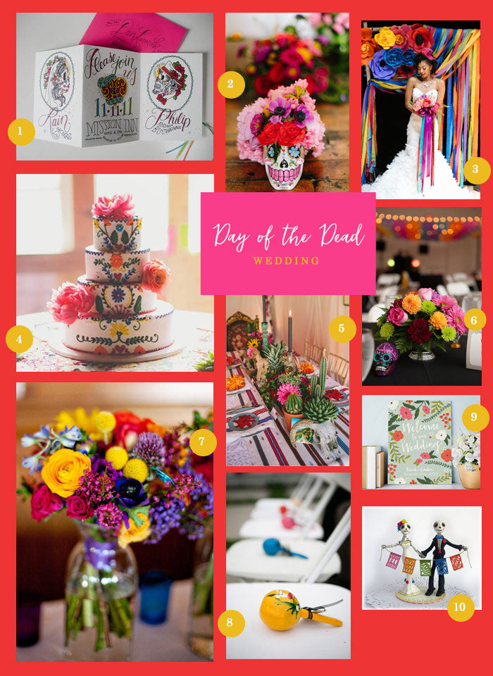 Day Of The Dead Wedding Theme Ideas | A Lively Day of the Dead Wedding | My Wedding Favors