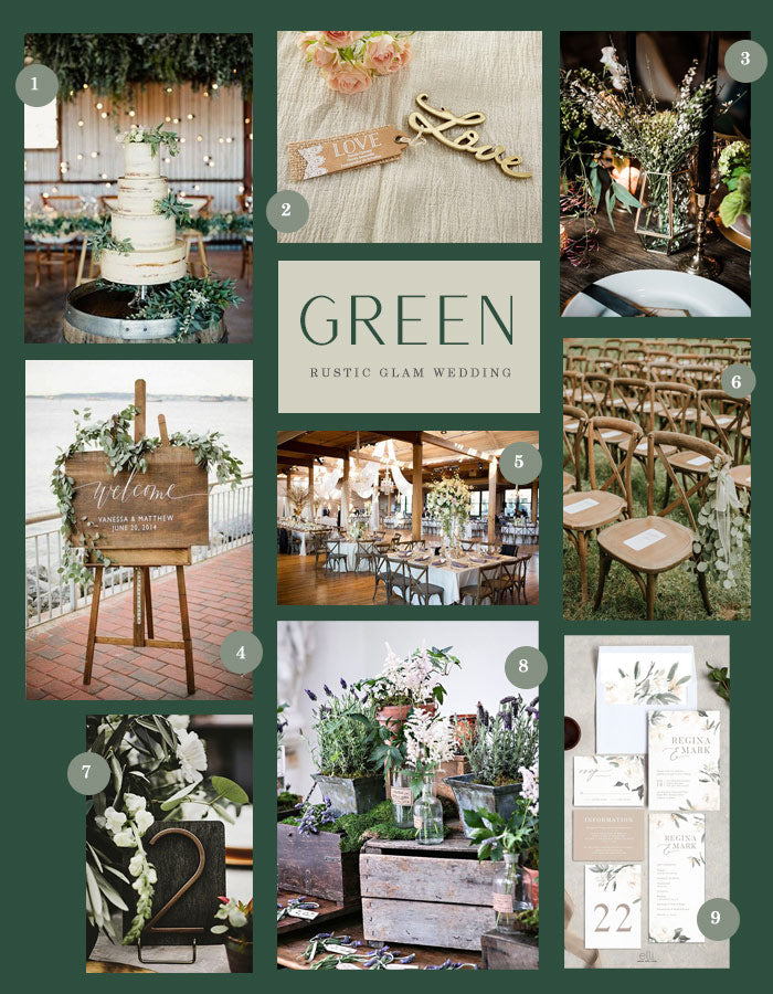 Modern Rustic Glam Green Wedding Inspiration | A Modern Rustic Glam Green Wedding | My Wedding Favors
