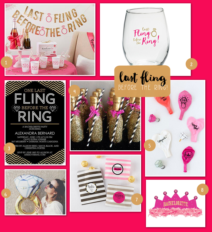 Last Fling Before the Ring Bachelorette Party | MyWeddingFavors.com