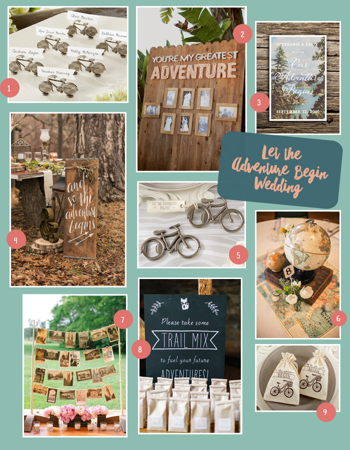 Let the Adventure Begin Wedding Inspiration | MyWeddingFavors.com