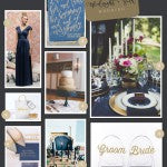 Beautiful Pinworthy Midnight Blue and Gold Wedding Inspiration | MyWeddingFavors.com