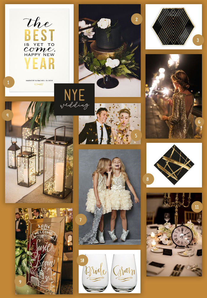 New Year's Eve Wedding Collage | A New Year's Eve Wedding | My Wedding Favors