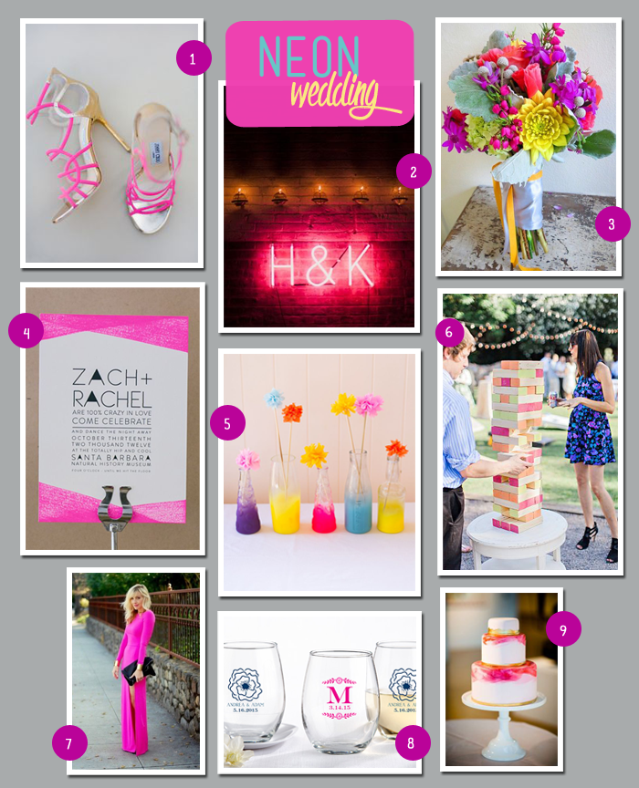 MWF Neon Wedding Board